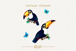 ♥ vector Toco toucans