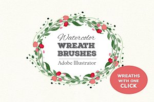 NEW! Wreath Brushes for Illustrator