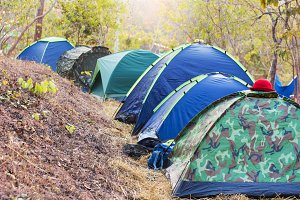 Camping tent .