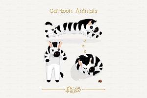 ♥ vector Funny zebras