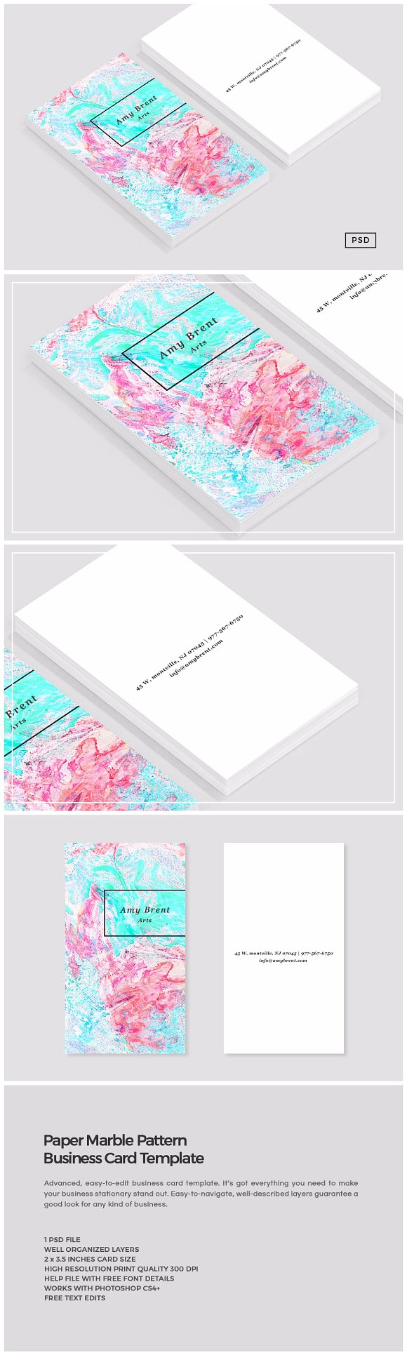 Paper marble pattern business card business card templates paper marble pattern business card business cards magicingreecefo Gallery