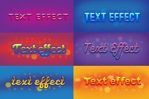 6 simple text effects set