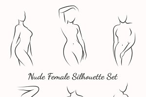 Nude female silhouette