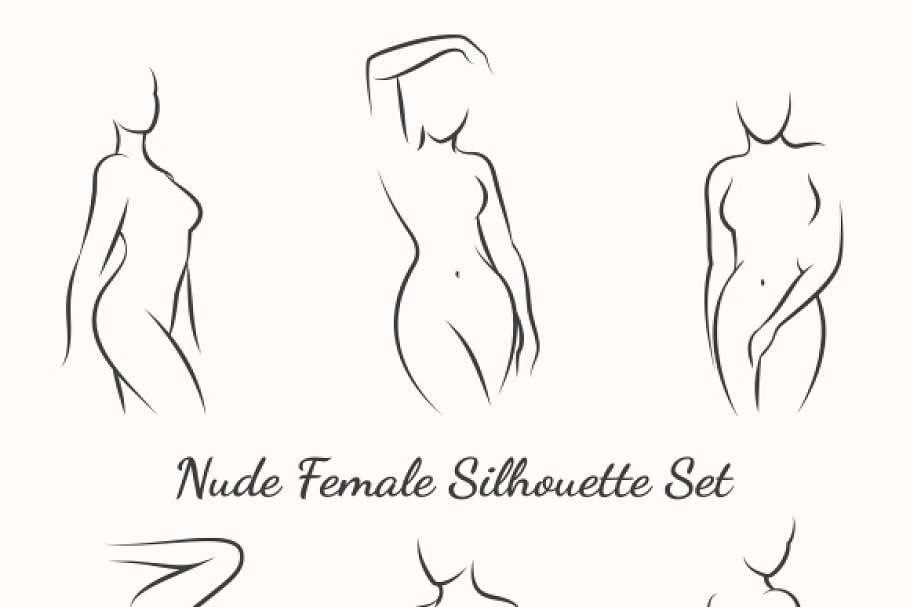 Save. Nude female silhouette