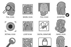 Information security icons