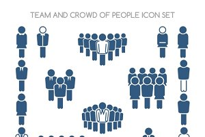 Team and crowd icons