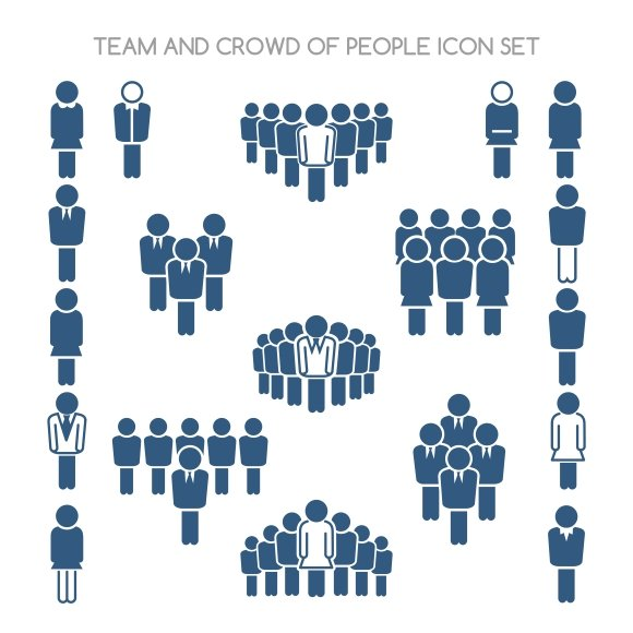 Team and crowd icons ~ Graphics ~ Creative Market