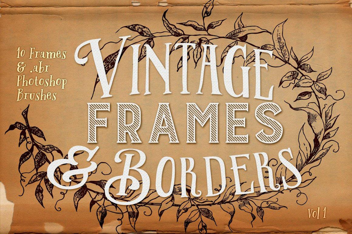 Vintage Frames & Borders Plus PS Abr