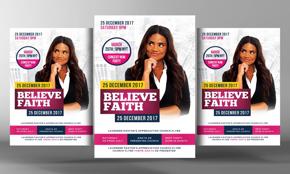 faith believe church poster flyer flyer templates on creative market