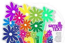Abstract floral design illustration