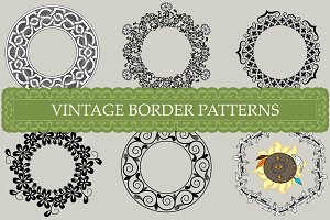 Vintage border patterns