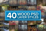 Wood Styles Bundle for Photoshop