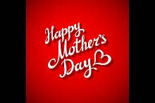 Happy Mothers's Day red Design Card