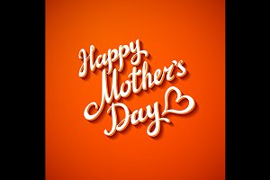Happy Mothers's Day orange Card