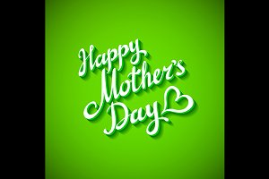 Happy Mothers's Day green Card