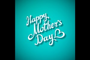 Happy Mothers's Day blue Design Card