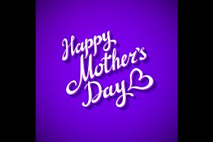 Happy Mothers's Day violet Card