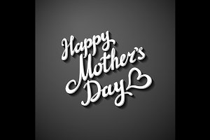 Happy Mothers's Day black Card