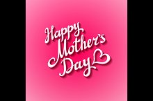 Happy Mothers's Day pink Design Card