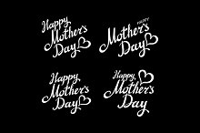 Happy mothers day set lettering