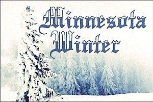Minnesota Winter Font