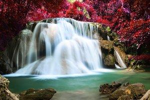 Waterfall in autumn