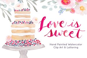 Wedding Cake Watercolor Clip art