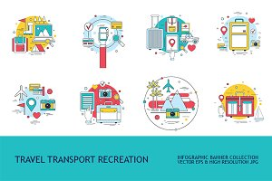 10 Travel Transport Vacation banners