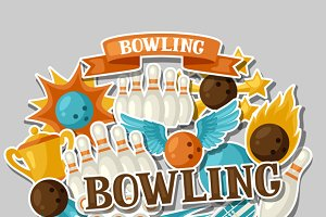 Backgrounds with bowling items.