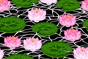 Patterns with lotus flowers.