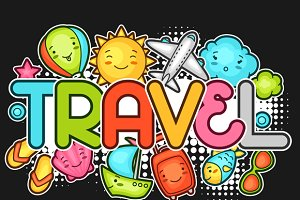 Cute travel backgrounds.