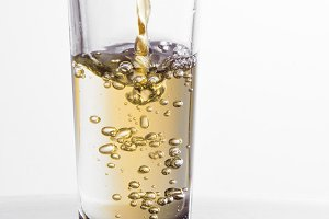 One tequila shot splash