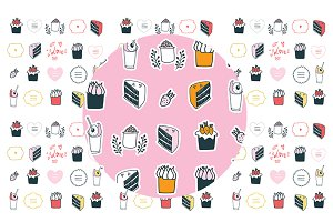 Food & Decoration Handdrawn Elements