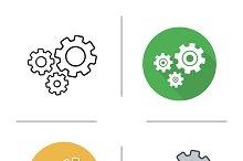 Cogwheels icons. Vector