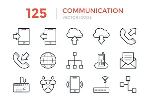 125 Communication Vector Icons
