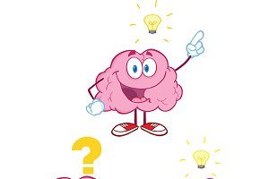 Brain Cartoon Mascot Collection - 10