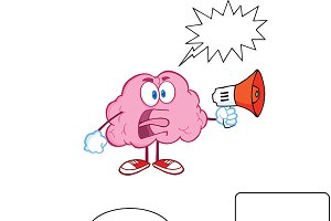 Brain Cartoon Mascot Collection - 11