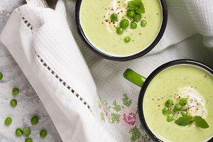 Cream of green peas
