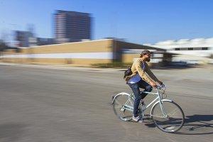 Bicyclist Panning Photo