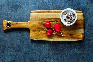 Fresh organic radish