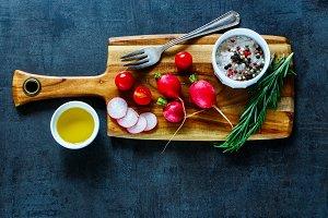 Tasty organic vegetables