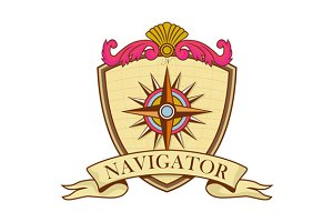 Compass Navigator Coat of Arms