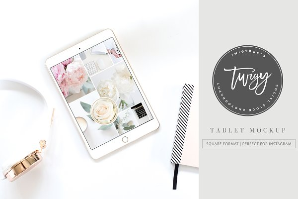 Tablet Styled Stock Photo | +PSD