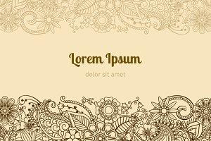 Henna Mehndi Card Template Pre Designed Illustrator Graphics Creative Market