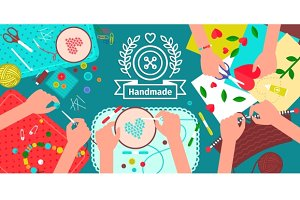Creative handmade workshop banner