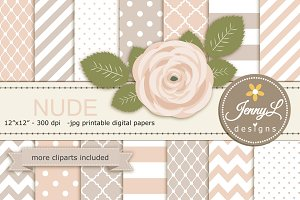 Nude Cream Digital Paper