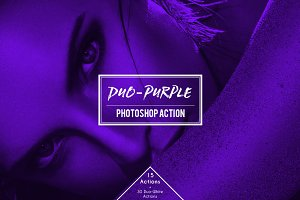 Duo-Purple Duotone Photoshop Action