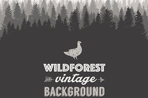 Pine forest design template