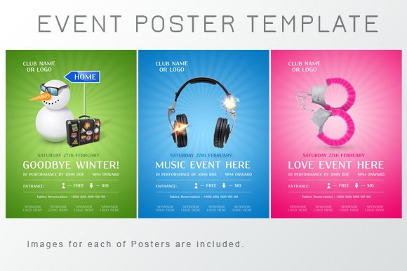 Event Poster Template ~ Flyer Templates ~ Creative Market