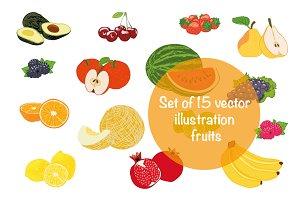 Vector illustration fruits